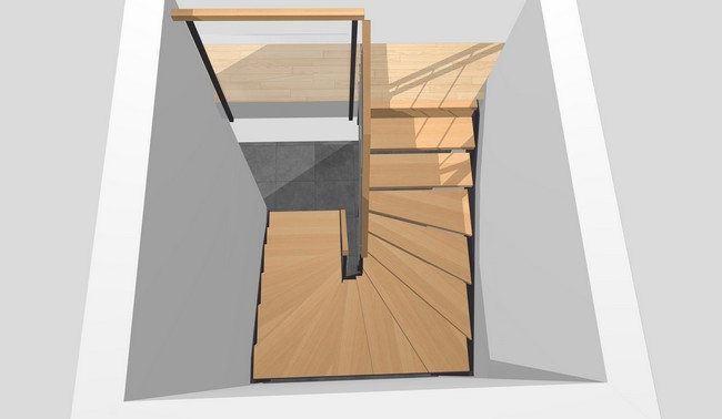 Forme d'escalier 1/2 ou 2/4 tournant