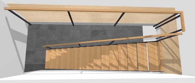 Forme d'escalier droit