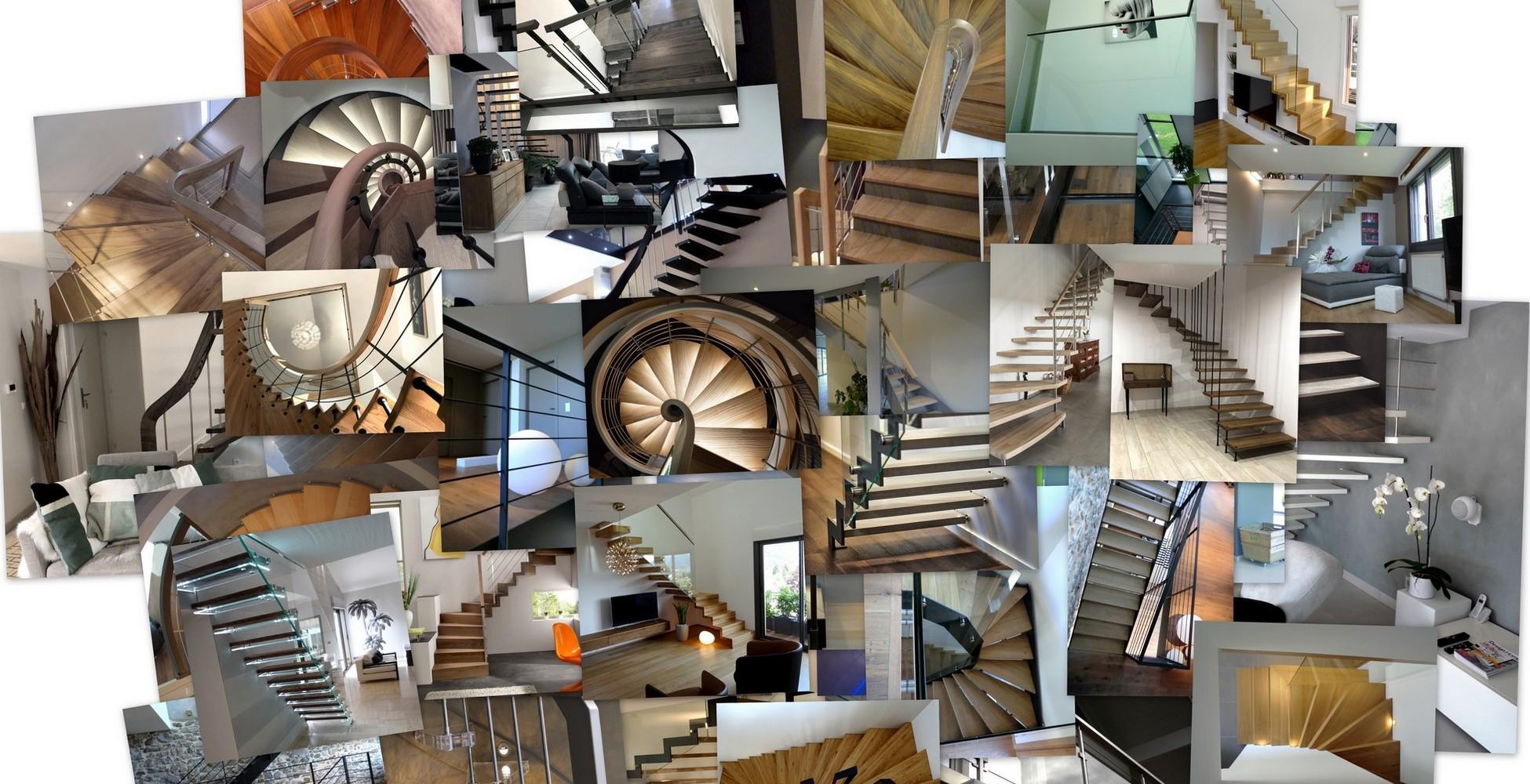 Différents types d'escaliers et garde-corps design