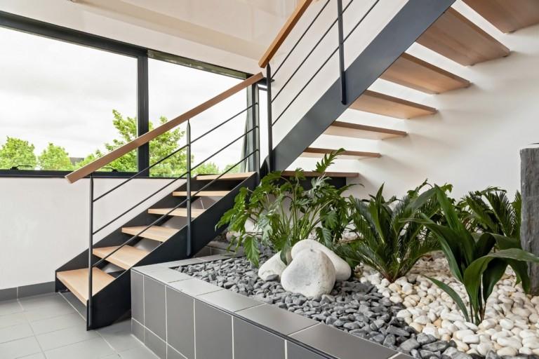 escalier sur mesure limon droit sans contremarche bois metal