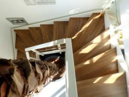 escalier sans contremarche limon droit bois métal
