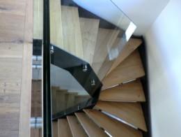 escalier sans contremarche bois métal limon droit