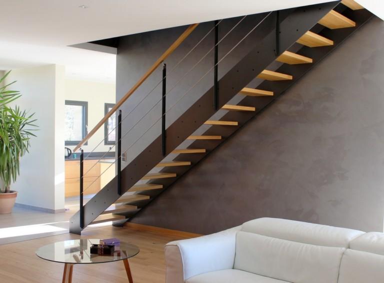 escalier limon droit en composite contemporain