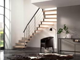 escalier sans contremarche bois metal