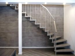 escalier sans limon bois metal