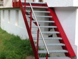 escalier extérieur design sur mesure metal