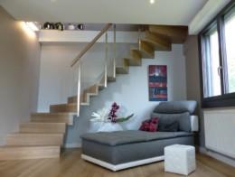 escalier sur mesure sans limon marche et contremarche en bois