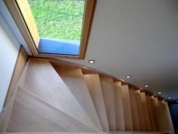escalier traditionnel en bois un quart tournant sur mesure tradilux