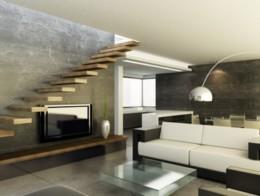 escalier avec marches suspendues en bois sur mesure