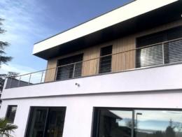garde-corps terrasse bois metal sur mesure