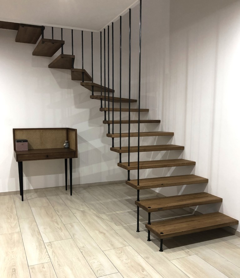 escalier sur-mesure sans limon